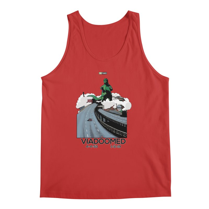 Seattle Viaduct (RIP) / Godzilla Men's Regular Tank by Two Thangs Artist Shop