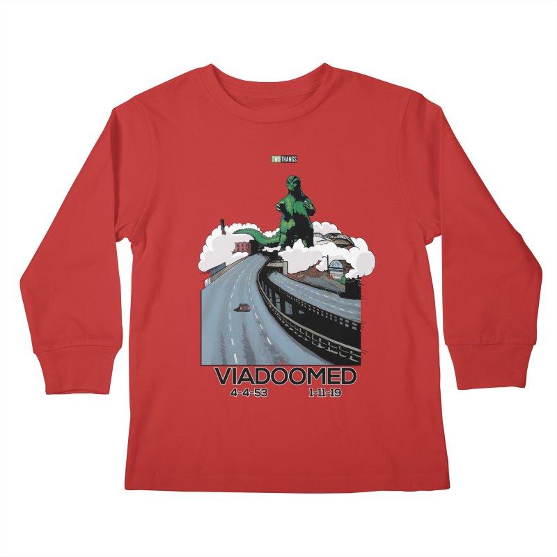 Seattle Viaduct (RIP) / Godzilla Kids Longsleeve T-Shirt by Two Thangs Artist Shop