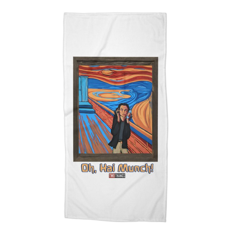 "The Room / The Scream ""Oh, Hai Munch!"" Accessories Beach Towel by Two Thangs Artist Shop"