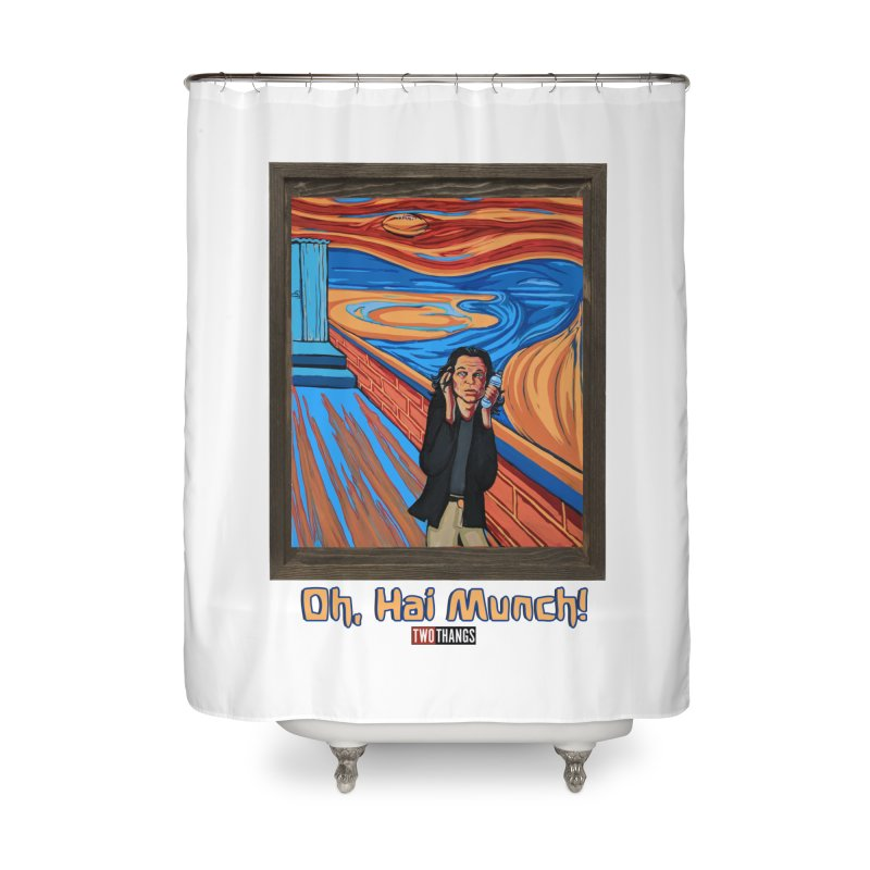 """The Room / The Scream """"Oh, Hai Munch!"""" Home Shower Curtain by Two Thangs Artist Shop"""