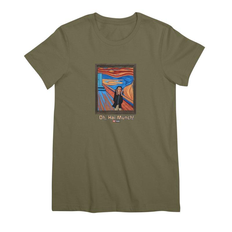 "The Room / The Scream ""Oh, Hai Munch!"" Women's Premium T-Shirt by Two Thangs Artist Shop"