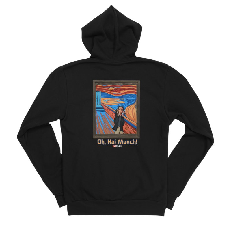 "The Room / The Scream ""Oh, Hai Munch!"" Men's Sponge Fleece Zip-Up Hoody by Two Thangs Artist Shop"
