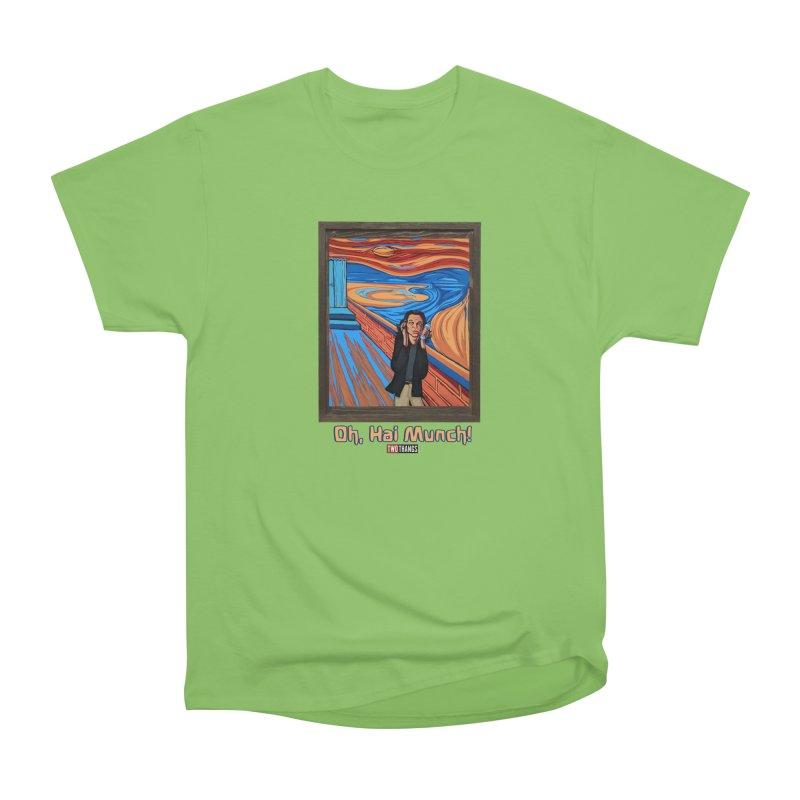 "The Room / The Scream ""Oh, Hai Munch!"" Women's Heavyweight Unisex T-Shirt by Two Thangs Artist Shop"