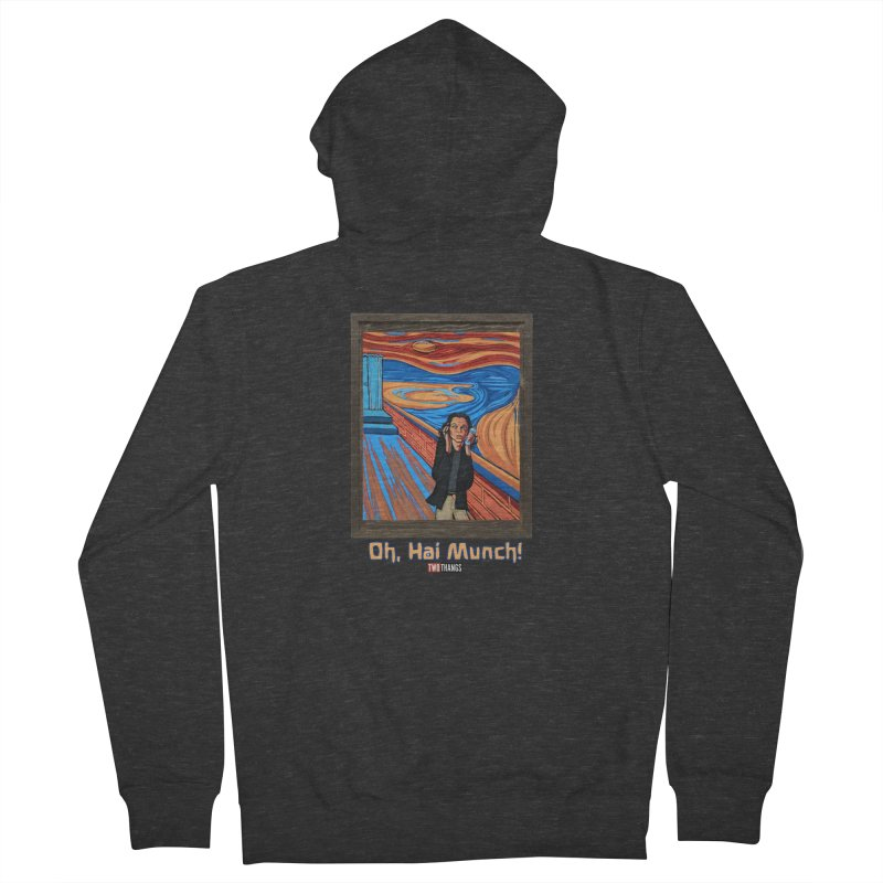"""The Room / The Scream """"Oh, Hai Munch!"""" Women's French Terry Zip-Up Hoody by Two Thangs Artist Shop"""