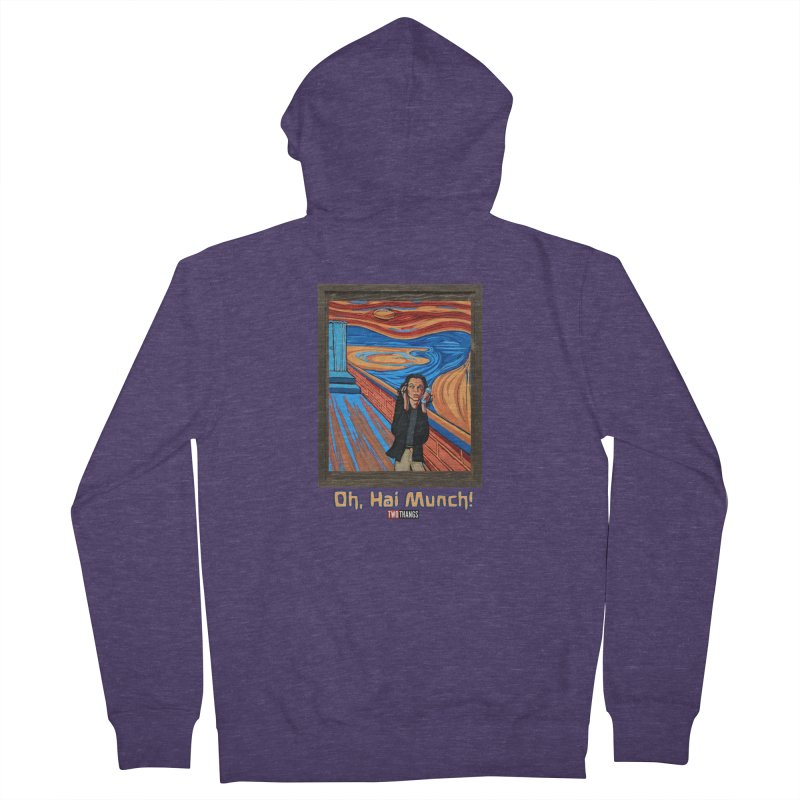"The Room / The Scream ""Oh, Hai Munch!"" Men's French Terry Zip-Up Hoody by Two Thangs Artist Shop"