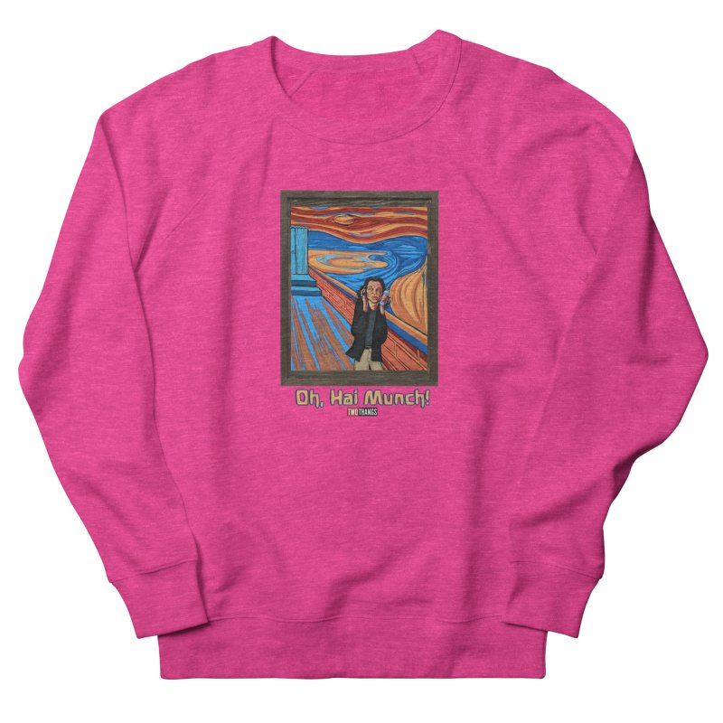 "The Room / The Scream ""Oh, Hai Munch!"" Women's French Terry Sweatshirt by Two Thangs Artist Shop"