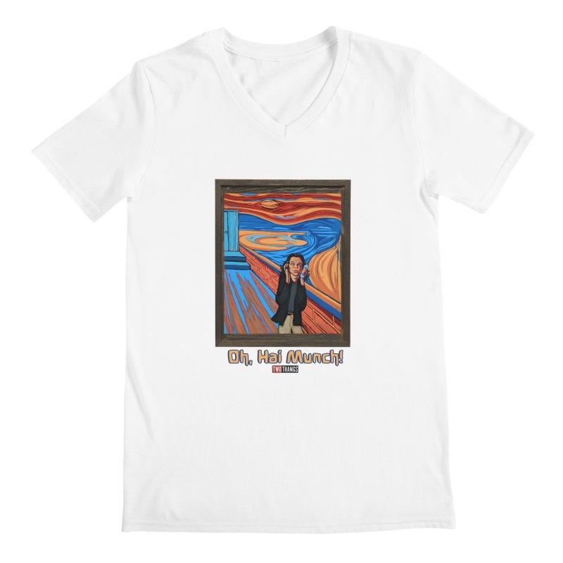 "The Room / The Scream ""Oh, Hai Munch!"" Men's Regular V-Neck by Two Thangs Artist Shop"