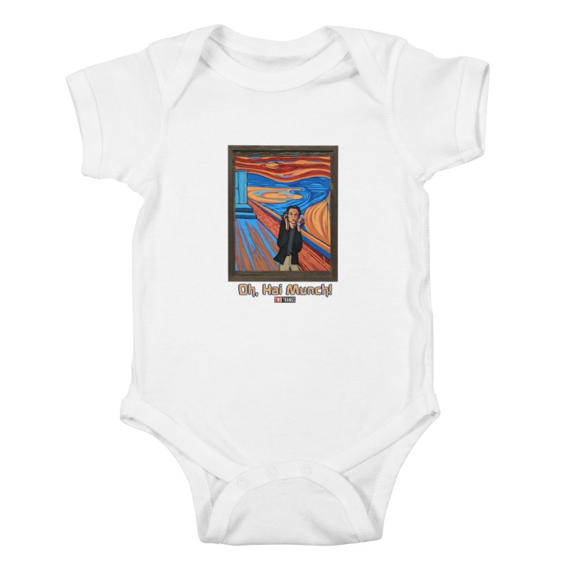 """The Room / The Scream """"Oh, Hai Munch!"""" Kids Baby Bodysuit by Two Thangs Artist Shop"""