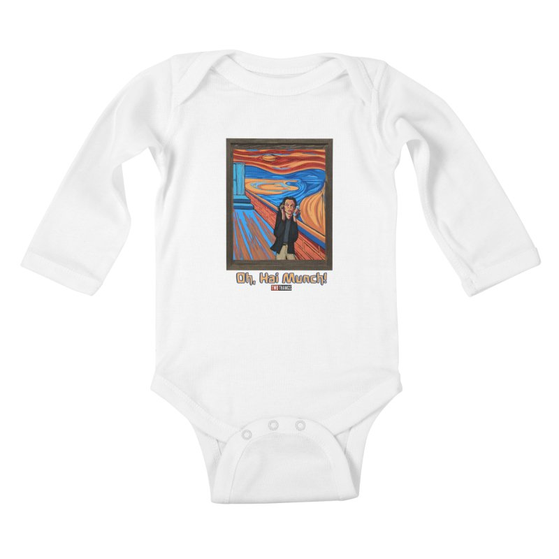 """The Room / The Scream """"Oh, Hai Munch!"""" Kids Baby Longsleeve Bodysuit by Two Thangs Artist Shop"""