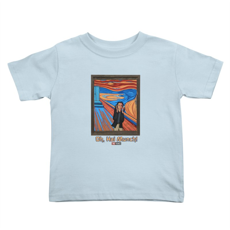 """The Room / The Scream """"Oh, Hai Munch!"""" Kids Toddler T-Shirt by Two Thangs Artist Shop"""