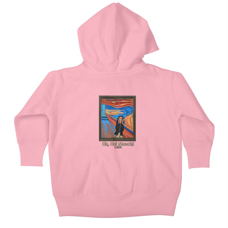 """The Room / The Scream """"Oh, Hai Munch!"""" Kids Baby Zip-Up Hoody by Two Thangs Artist Shop"""