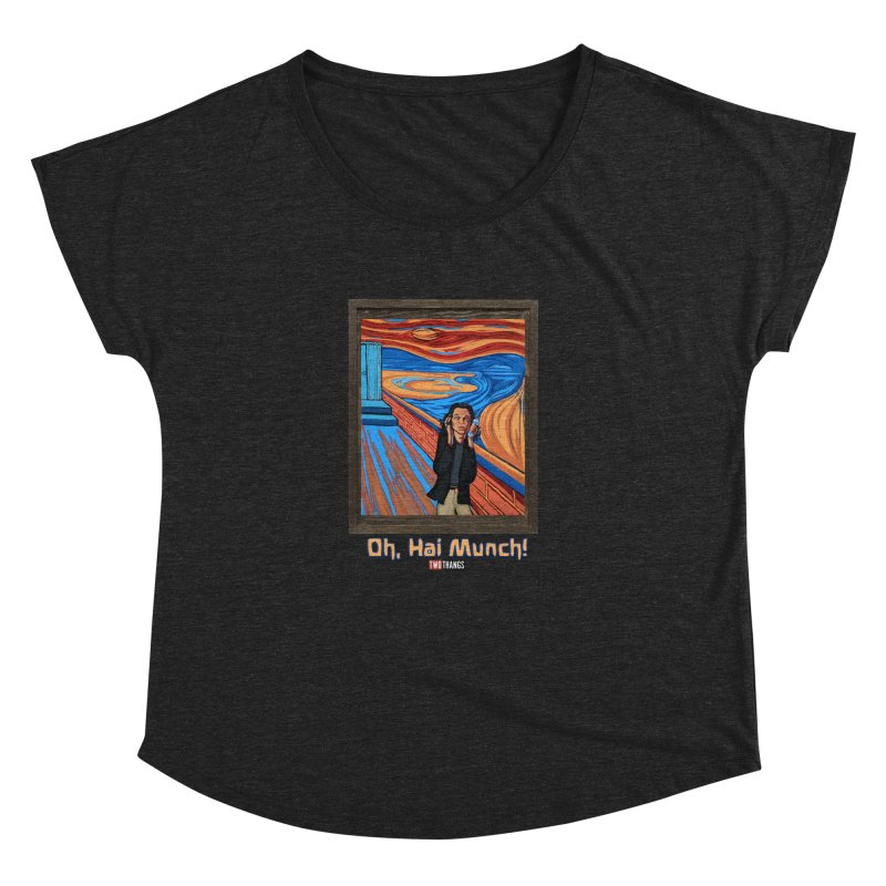"The Room / The Scream ""Oh, Hai Munch!"" Women's Dolman Scoop Neck by Two Thangs Artist Shop"