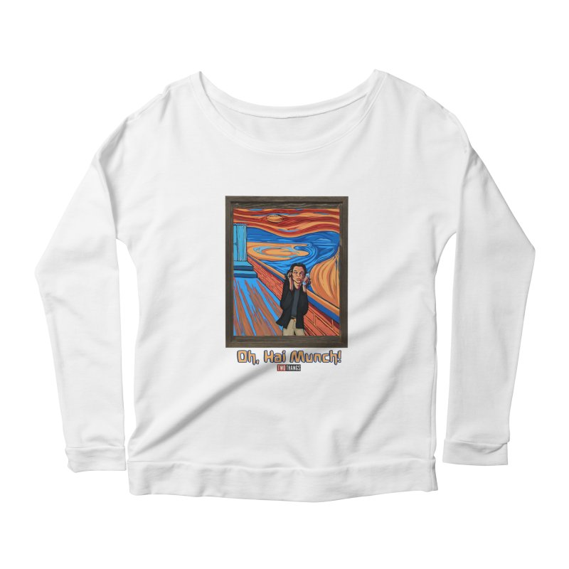 """The Room / The Scream """"Oh, Hai Munch!"""" Women's Scoop Neck Longsleeve T-Shirt by Two Thangs Artist Shop"""