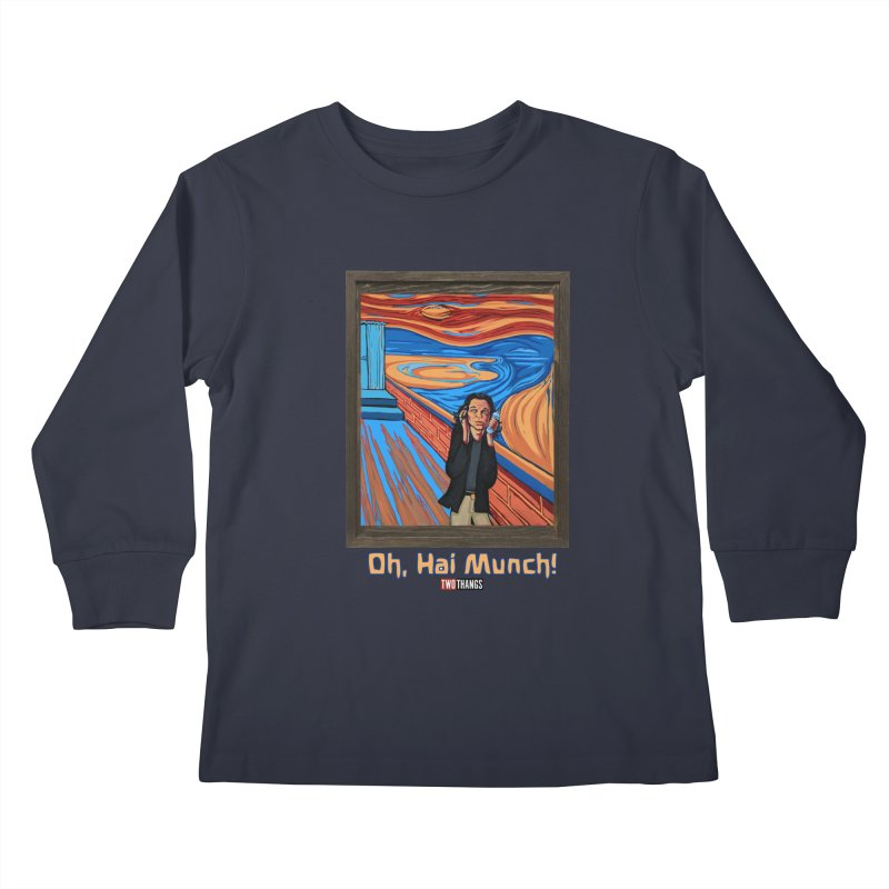 "The Room / The Scream ""Oh, Hai Munch!"" Kids Longsleeve T-Shirt by Two Thangs Artist Shop"