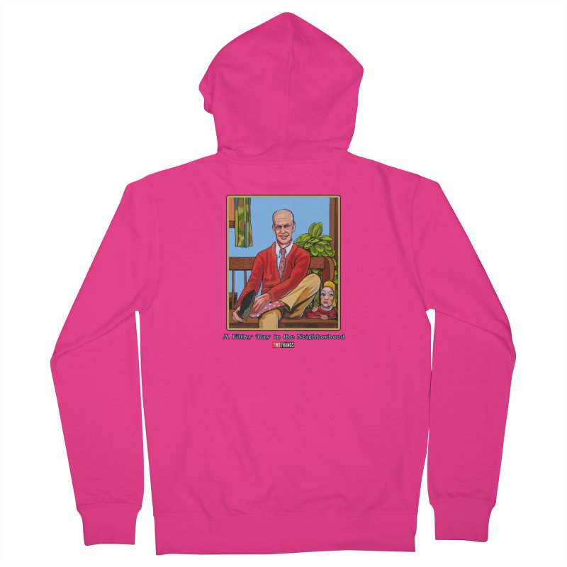 Mr. Waters Filthy Neighborhood Men's French Terry Zip-Up Hoody by Two Thangs Artist Shop