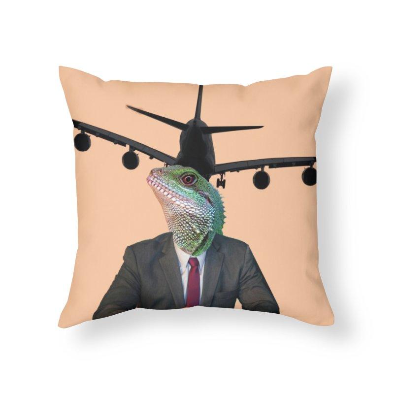 Lizard Agent Home Throw Pillow by TYNICKO Random Randoms Shop