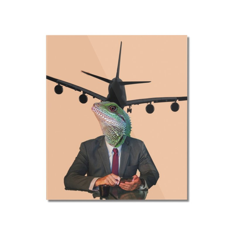 Lizard Agent Home Mounted Acrylic Print by TYNICKO Random Randoms Shop