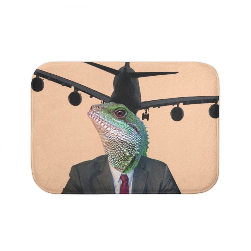 Lizard Agent Home Bath Mat by TYNICKO Random Randoms Shop