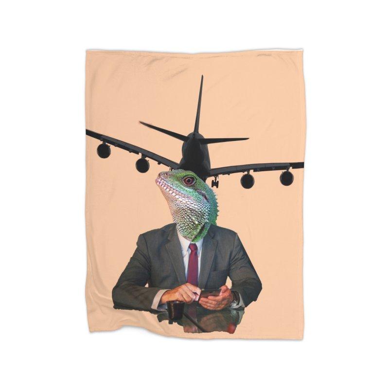 Lizard Agent Home Blanket by TYNICKO Random Randoms Shop