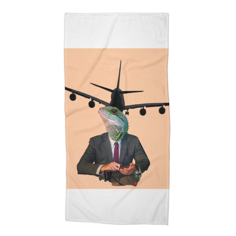 Lizard Agent Accessories Beach Towel by TYNICKO Random Randoms Shop