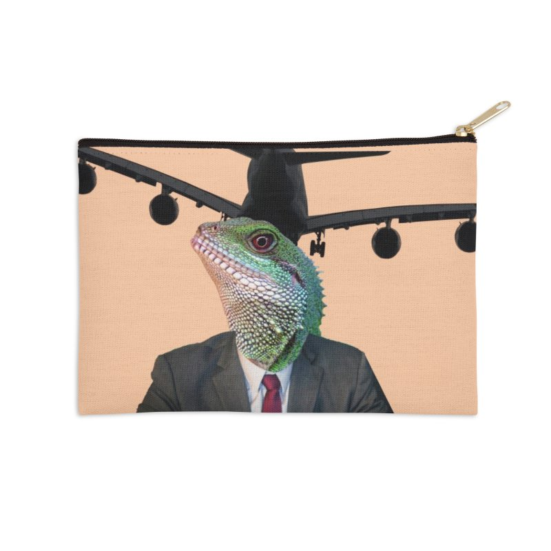 Lizard Agent Accessories Zip Pouch by TYNICKO Random Randoms Shop