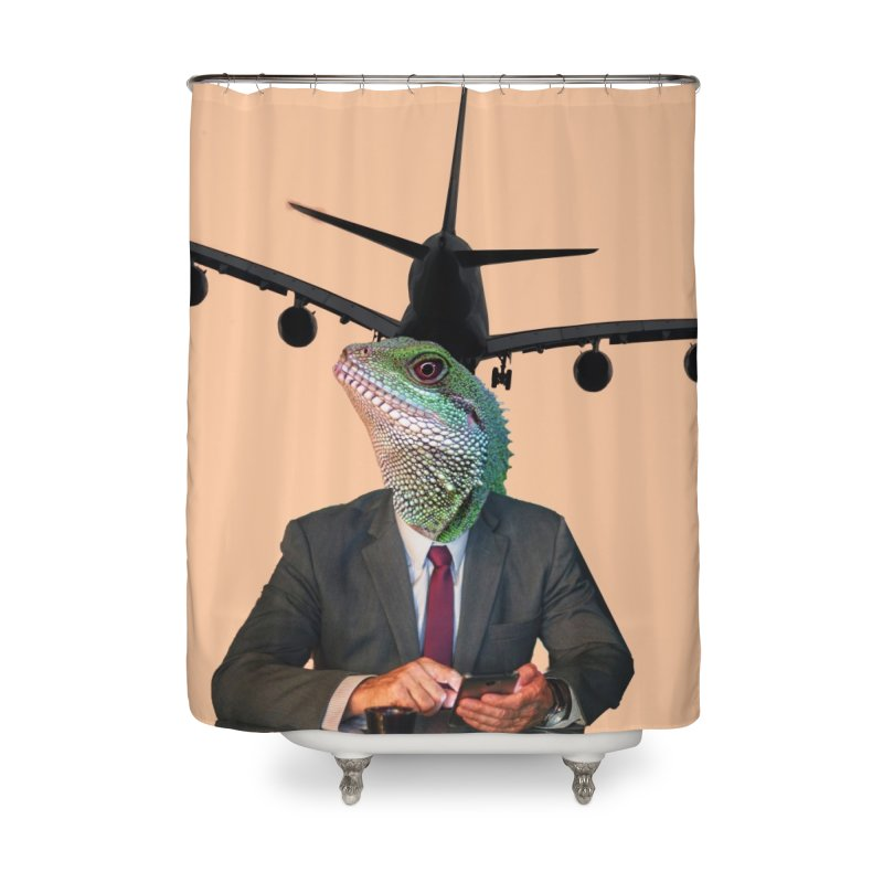 Lizard Agent Home Shower Curtain by TYNICKO Random Randoms Shop
