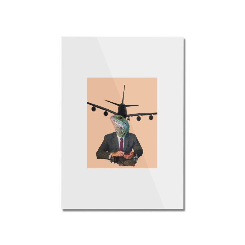 Lizard Agent Home Mounted Acrylic Print by TYNICKO Random Randoms Shop