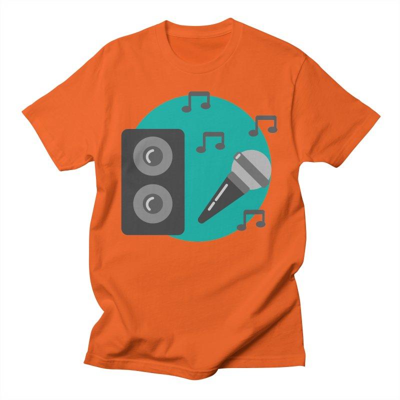 Mike & Speaker Men's T-Shirt by TYNICKO Random Randoms Shop