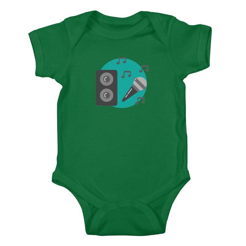 Mike & Speaker Kids Baby Bodysuit by TYNICKO Random Randoms Shop
