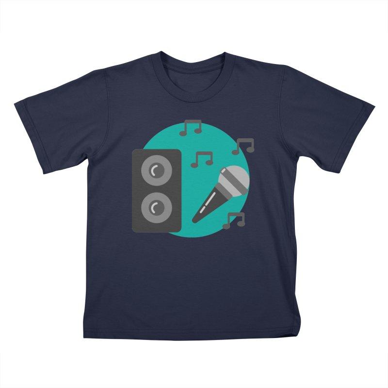 Mike & Speaker Kids T-Shirt by TYNICKO Random Randoms Shop