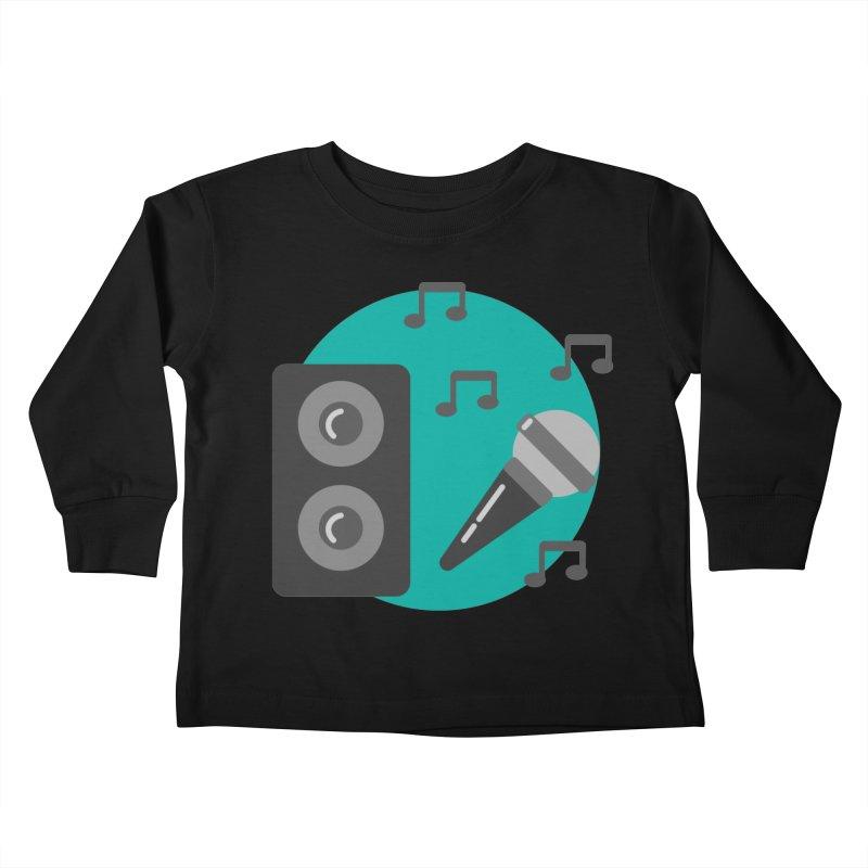 Mike & Speaker Kids Toddler Longsleeve T-Shirt by TYNICKO Random Randoms Shop