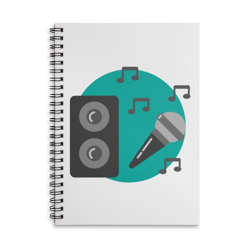 Mike & Speaker Accessories Notebook by TYNICKO Random Randoms Shop