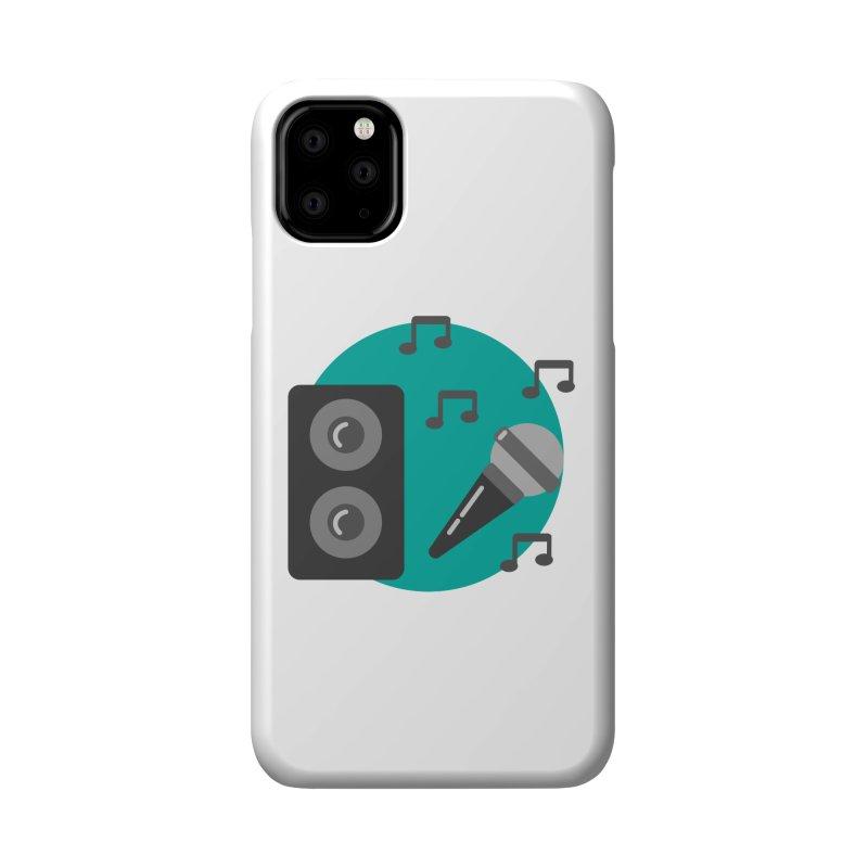 Mike & Speaker Accessories Phone Case by TYNICKO Random Randoms Shop