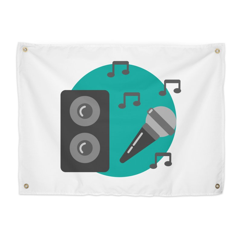 Mike & Speaker Home Tapestry by TYNICKO Random Randoms Shop