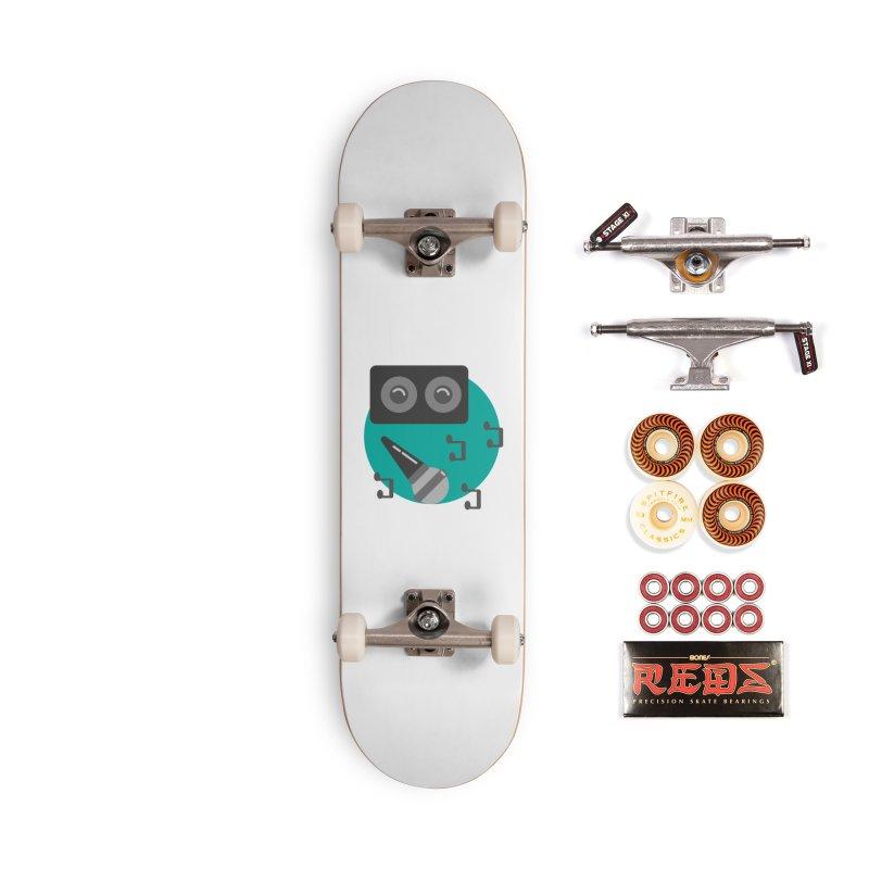 Mike & Speaker Accessories Skateboard by TYNICKO Random Randoms Shop