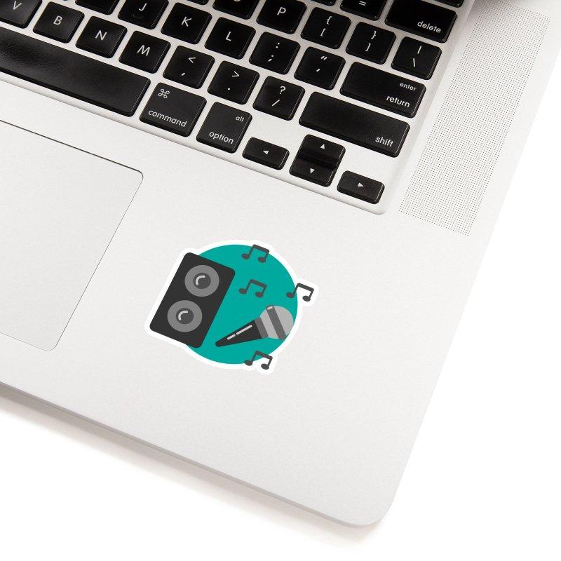 Mike & Speaker Accessories Sticker by TYNICKO Random Randoms Shop