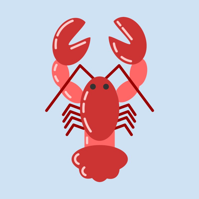 Squishy Lobster Men's T-Shirt by TYNICKO Random Randoms Shop
