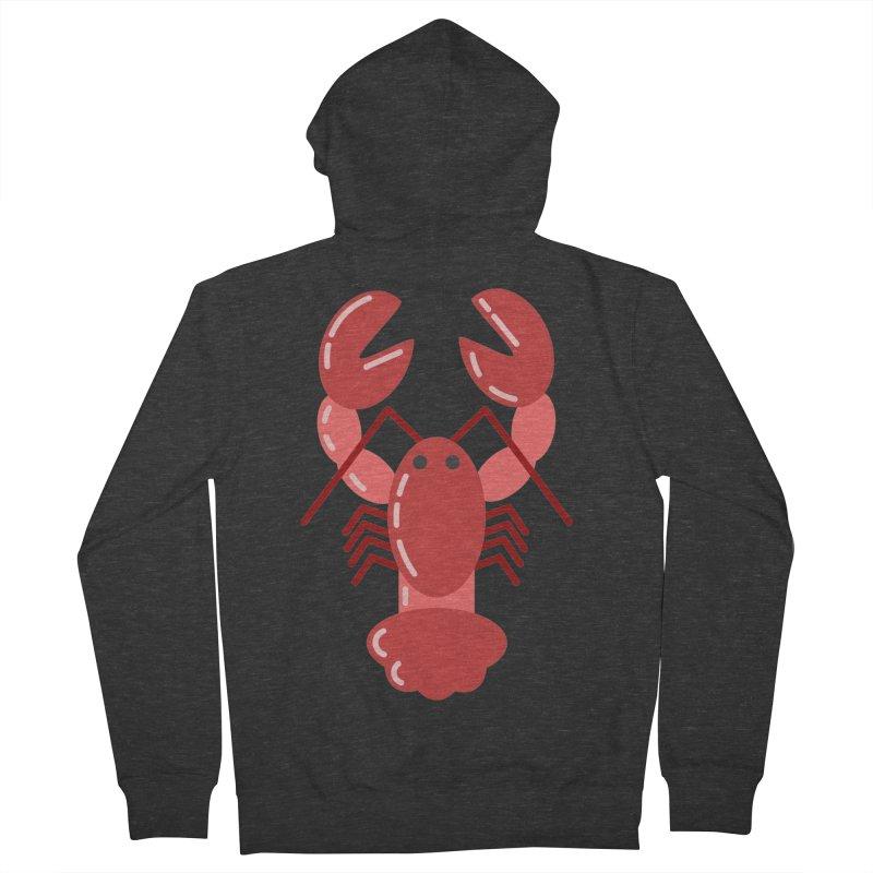 Squishy Lobster Men's Zip-Up Hoody by TYNICKO Random Randoms Shop