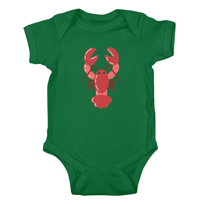 Squishy Lobster Kids Baby Bodysuit by TYNICKO Random Randoms Shop