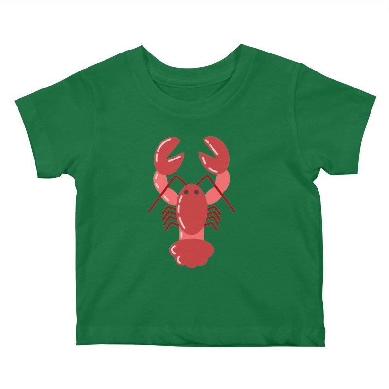 Squishy Lobster Kids Baby T-Shirt by TYNICKO Random Randoms Shop