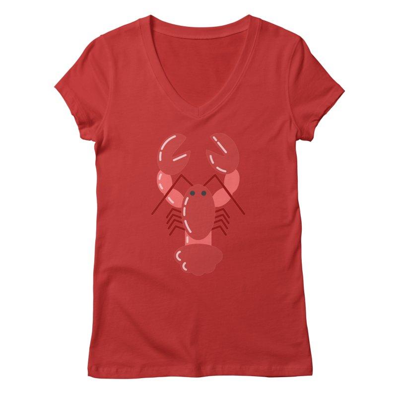 Squishy Lobster Women's V-Neck by TYNICKO Random Randoms Shop