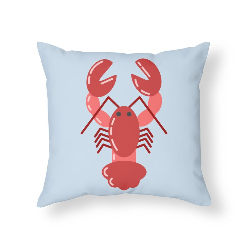 Squishy Lobster Home Throw Pillow by TYNICKO Random Randoms Shop