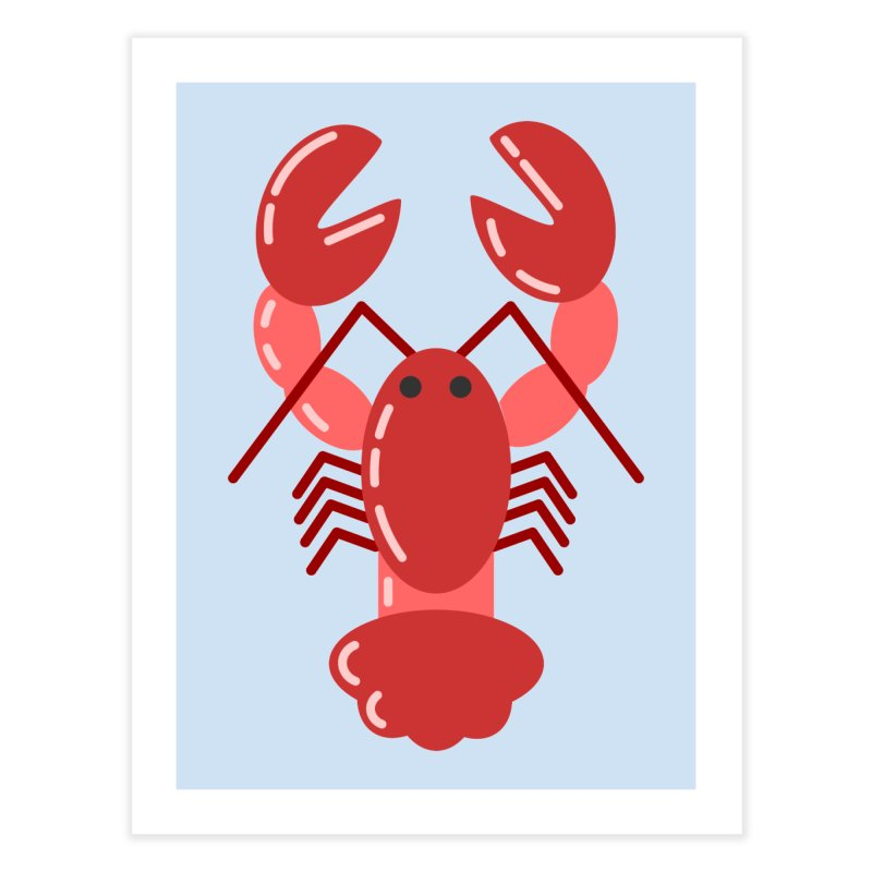 Squishy Lobster Home Fine Art Print by TYNICKO Random Randoms Shop