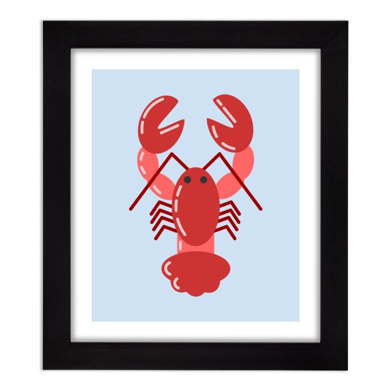 Squishy Lobster Home Framed Fine Art Print by TYNICKO Random Randoms Shop