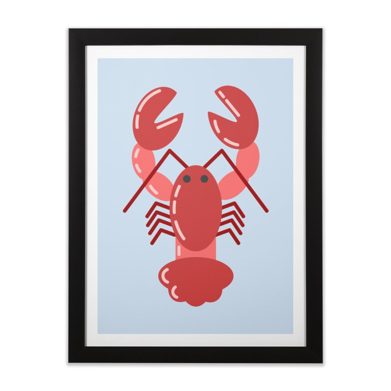 Squishy Lobster Home Framed Fine Art Print by TYNICKO Random Randoms Shop