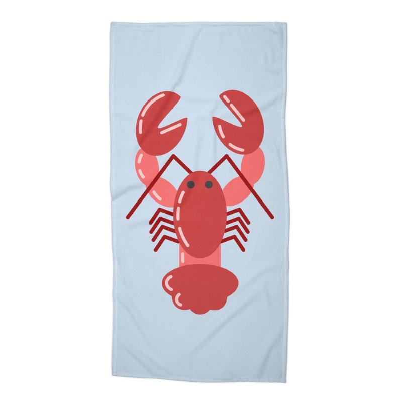 Squishy Lobster Accessories Beach Towel by TYNICKO Random Randoms Shop