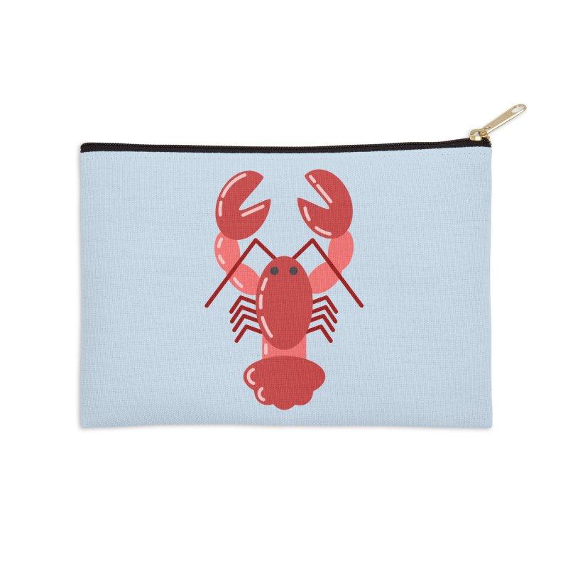 Squishy Lobster Accessories Zip Pouch by TYNICKO Random Randoms Shop