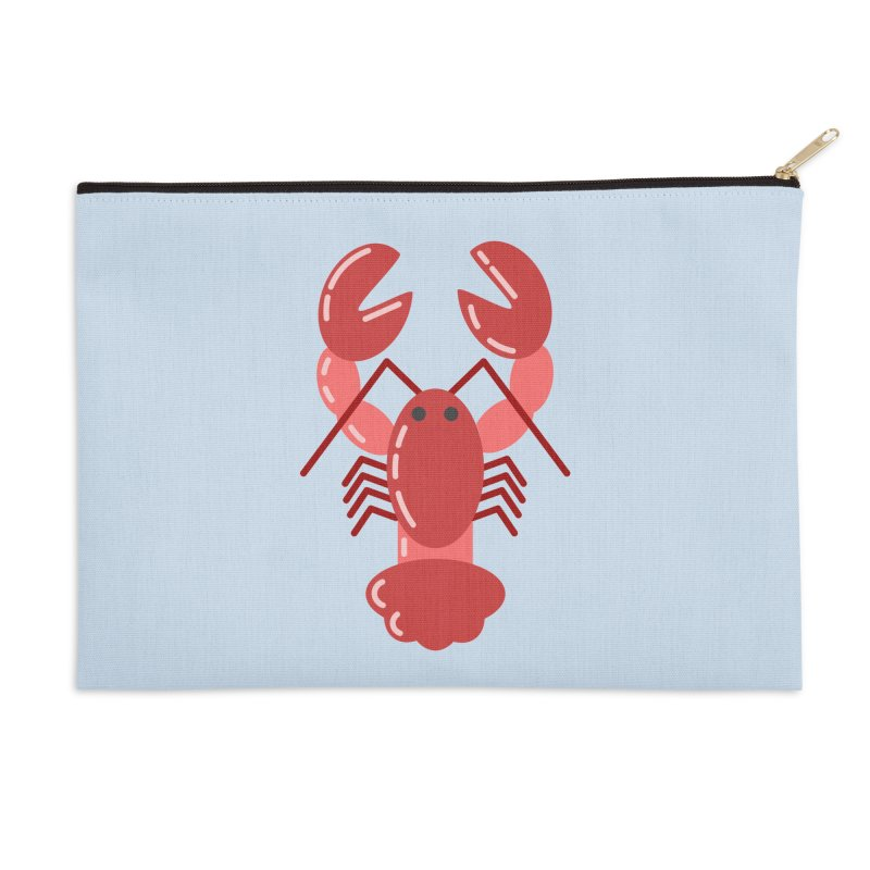 Squishy Lobster Accessories Zip Pouch by TYNICKO Random Randoms Shop