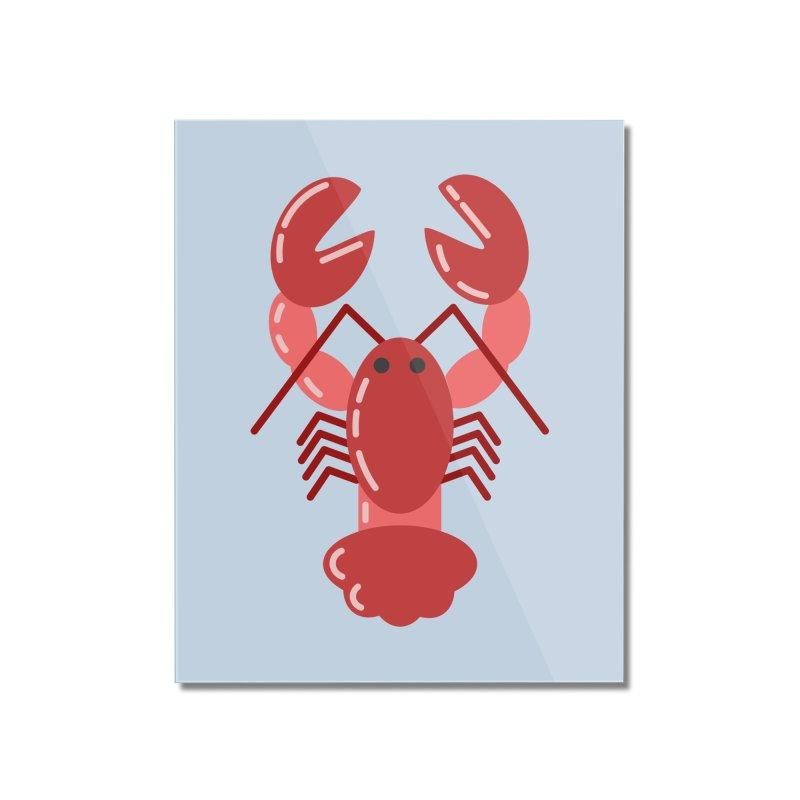 Squishy Lobster Home Mounted Acrylic Print by TYNICKO Random Randoms Shop