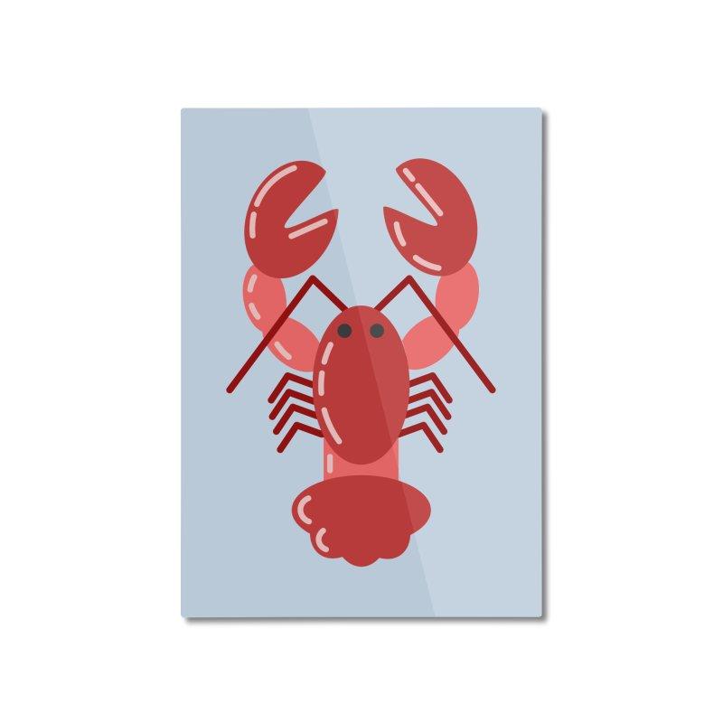 Squishy Lobster Home Mounted Aluminum Print by TYNICKO Random Randoms Shop